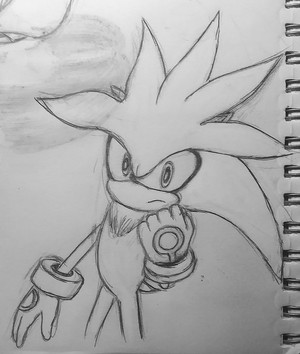 Silver The Hedgehog Sketch
