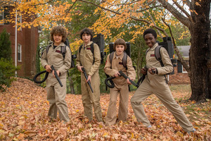Stranger Things 2: The Boys in their Ghostbusters Costumes