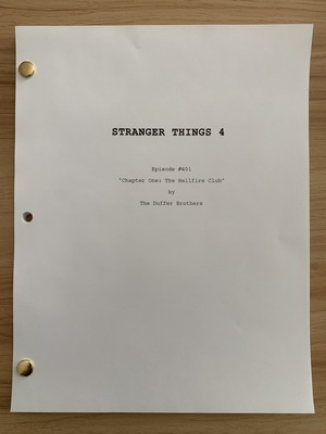 Stranger Things 4 - The Hellfire Club (4x01) Script
