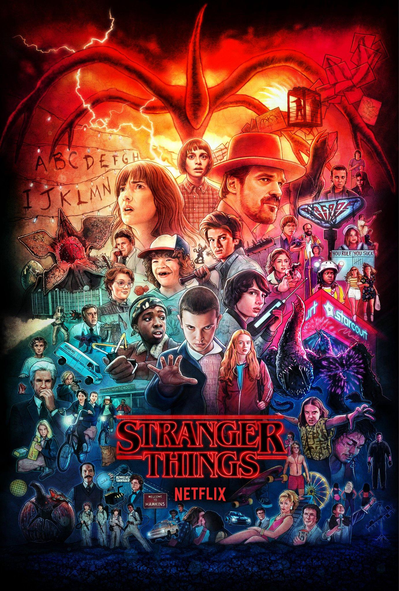 Stranger Things - Seasons 1-3 Poster