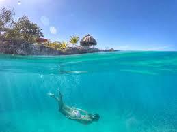 Swimming Underwater In Jamaica