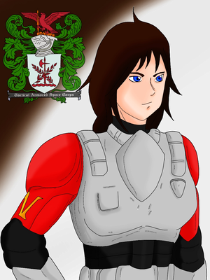 """T.A.S.C. squadron leader """"Marie Crystal"""" ."""