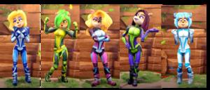 Tawna, Ami, Megumi, Liz, Isabella Bandicoot Hair Down Motorsport