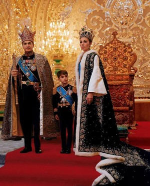 The Last Shah of Iran with His Family
