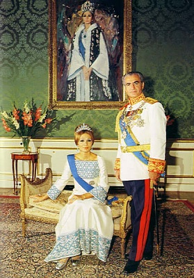The Last Shah of Iran with His Wife, the Last Shahbanu (Empress) of Iran