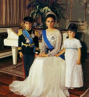 The Last Shahbanu (Empress) of Iran with Her Children
