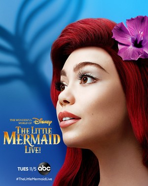 The Little Mermaid Live! (2019) Character Poster - Auli'i Cravalho as Ariel
