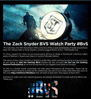 The 배트맨 v 슈퍼맨 Watch Party: November 16, 2019