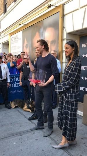 Tom Hiddleston, Charlie Cox and Zawe Ashton at the Broadway Flea Market - September 22, 2019