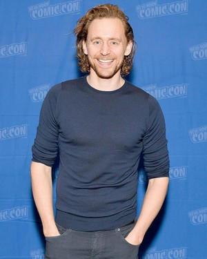 Tom Hiddleston at New York Comic Con at Jacob K. Javits Convention Center on October 03, 2019