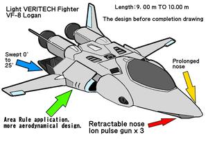 Unpublished manuscript VERITECH VF-8 Logan design