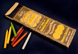 Vintage Box Of Colored Pencils