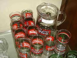 Vintage Coca Cola Glass And Pitcher Set