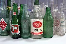Vintage Glass Soda Bottles