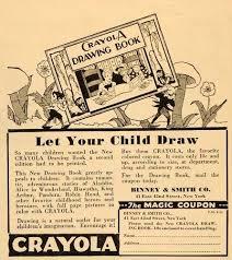 Vintage Promo Ad For Crayola Crayons