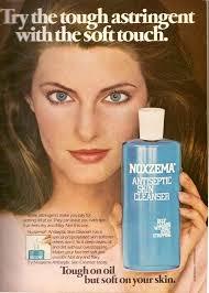Vintage Promo Ad For Noxema Astingent Skin Cleanser