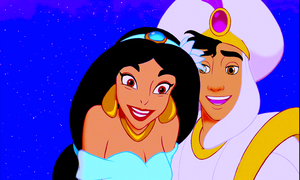 Walt Disney Screencaps – Princess hasmin & Prince Aladdin