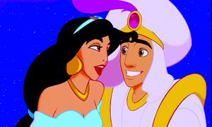 Walt Disney Screencaps – Princess hoa nhài & Prince Aladdin và cây đèn thần