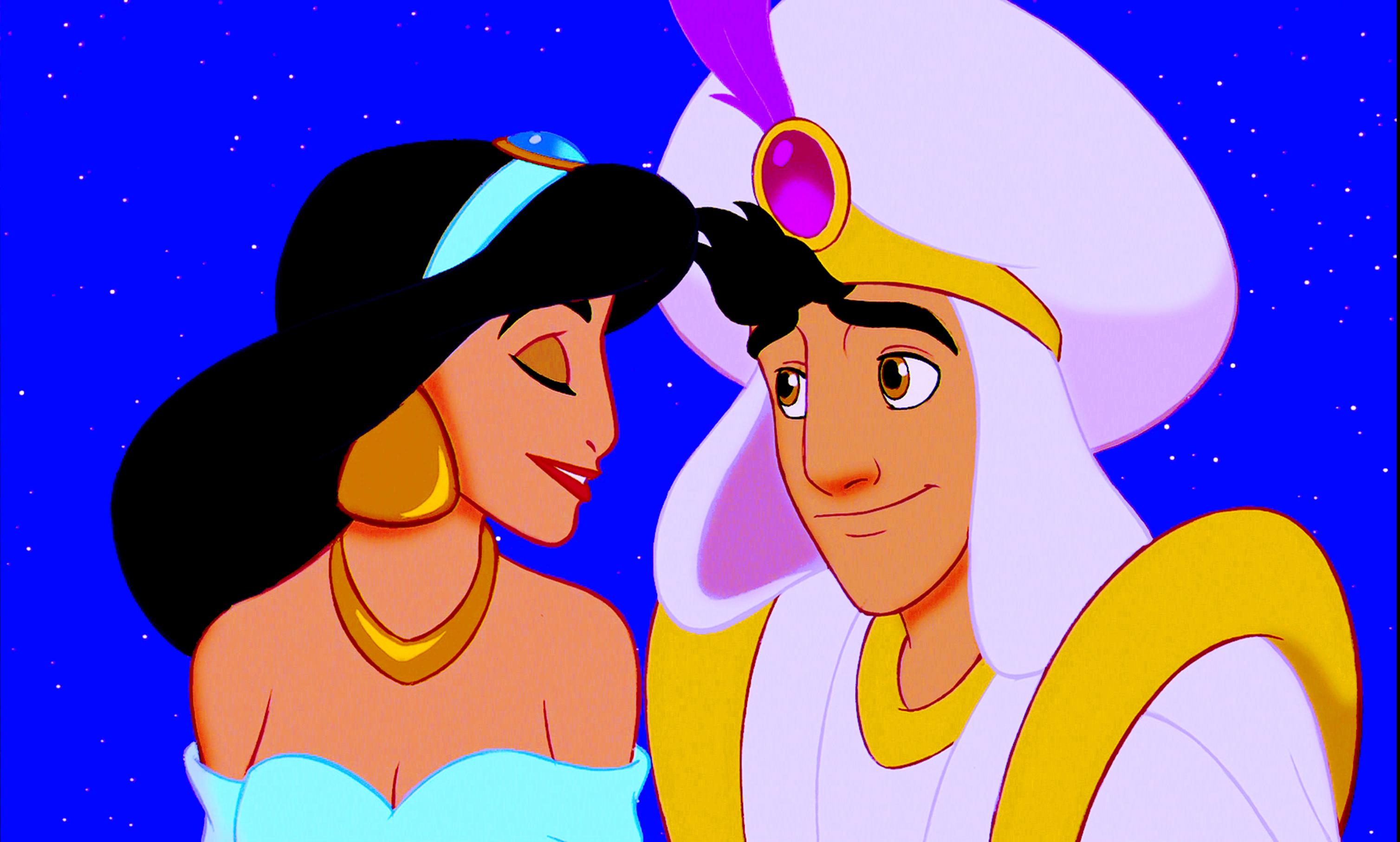 Walt ডিজনি Screencaps – Princess জুঁই & Prince আলাদীন