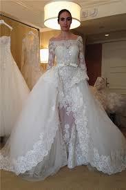 Wedding Dress With A Detachable Overskirt