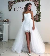 Wedding Dress With A Detachable overskirt, áo dài