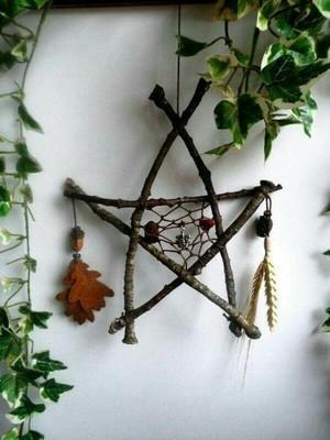 Wiccan Pentacle Dreamcatchers 💜🖤💚