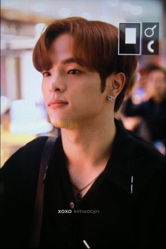 Woojin at the airport