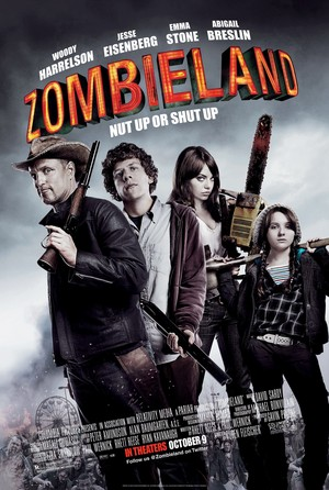 Zombieland (2009) Poster - Nut up o shut up.