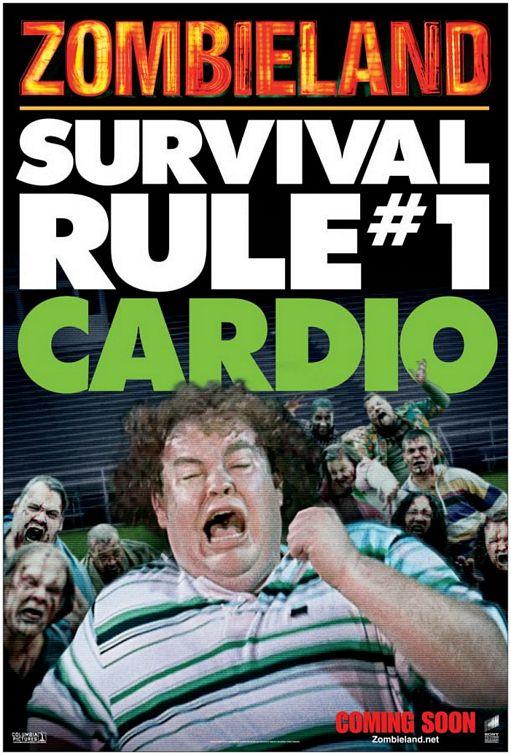 Zombieland (2009) Poster - Survival Rule 1: Cardio