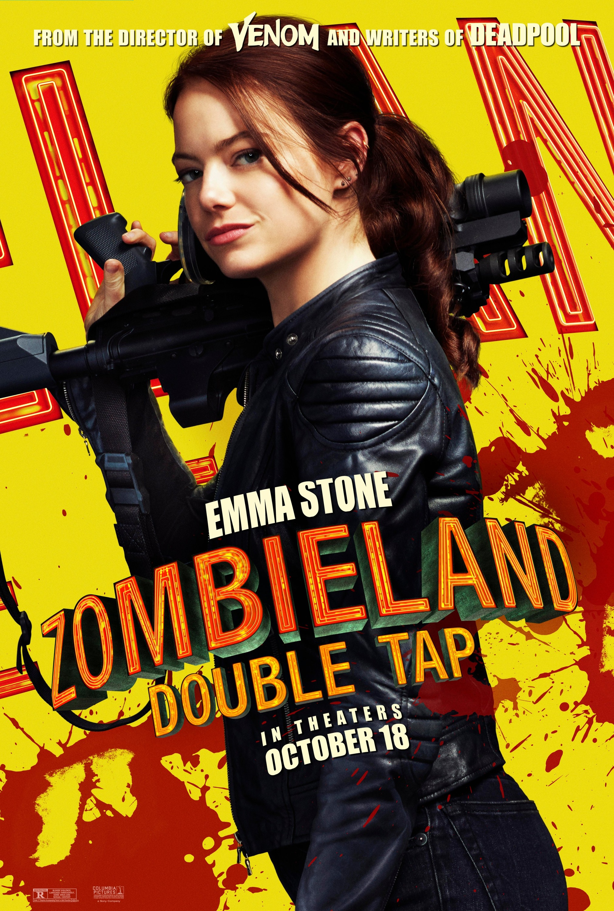 Zombieland: Double Tap (2019) Character Poster - Emma Stone as Wichita