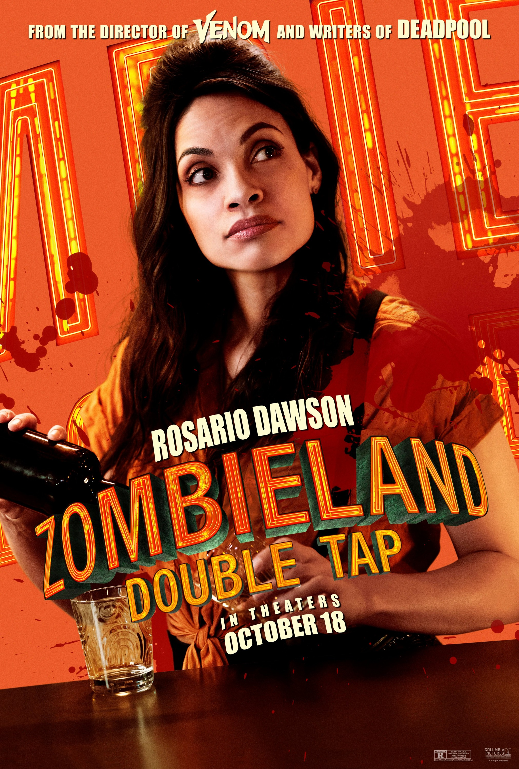 Zombieland: Double Tap (2019) Character Poster - Rosario Dawson as Nevada