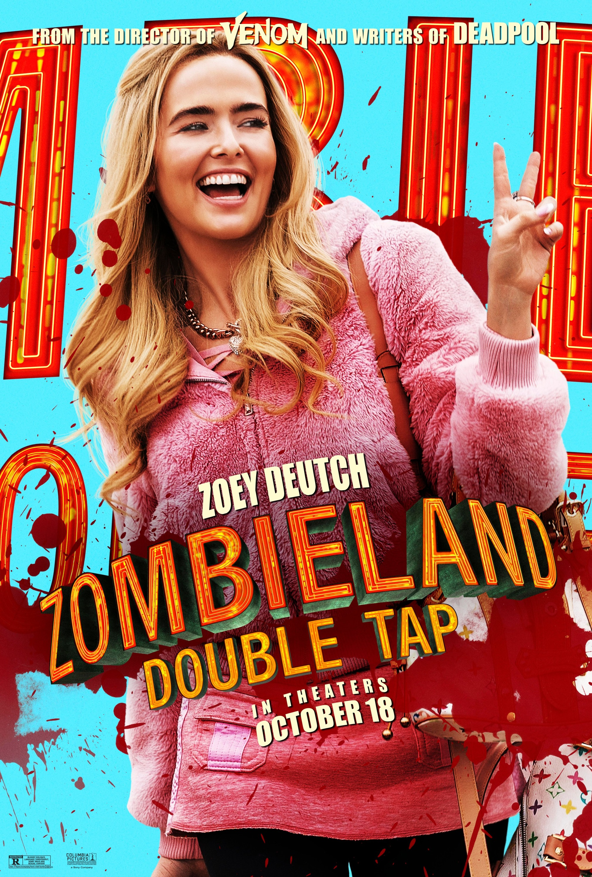 Zombieland Double Tap 2019 Character Poster Zoey Deutch