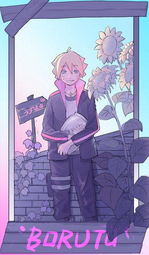 boruto with vase