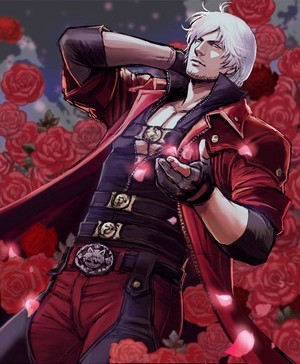 dante with バラ