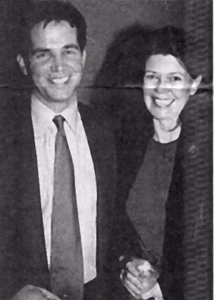 Alexandra Moltke and son Adam Isles in 1999