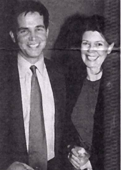 Alexandra Moltke and son Adam Isles in 1999