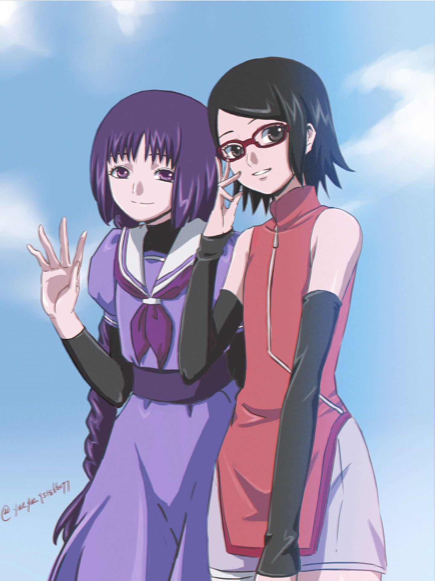 Sarada And Sumire Sumire Kakei Wallpaper 43023087 Fanpop