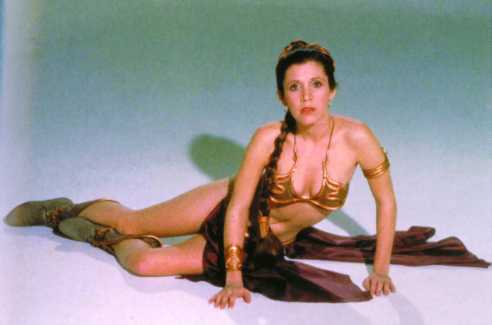 star wars carrie fisher slave leia organa wallpaper