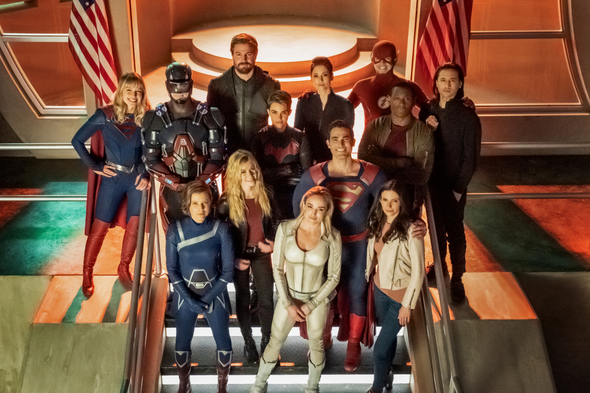 """""""Crisis on Infinite Earths"""" crossover promotional stills"""