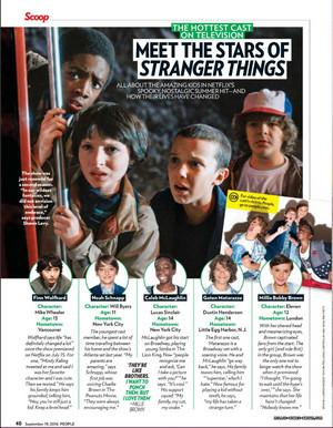 'Meet the Stars of Stranger Things' - Stranger Things in People Magazine - 2016