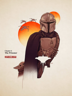 'Star Wars: The Mandalorian' episode posters oleh Doaly