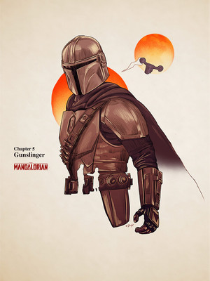 'Star Wars: The Mandalorian' episode posters سے طرف کی Doaly