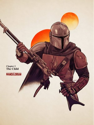 'Star Wars: The Mandalorian' episode posters sa pamamagitan ng Doaly