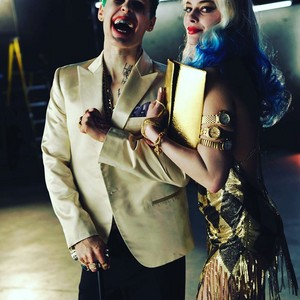 'Suicide Squad' Behind The Scenes ~ Joker and Harley Quinn Make-Up Test