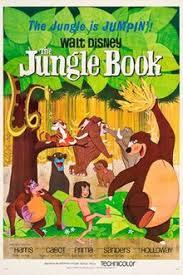 1967 ディズニー Cartoon, Jungle Book Movie Poster