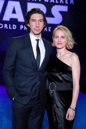 Adam Driver and Joanne Tucker - premiere of 星, 星级 Wars: The Rise Of Skywalker - December 16, 2019
