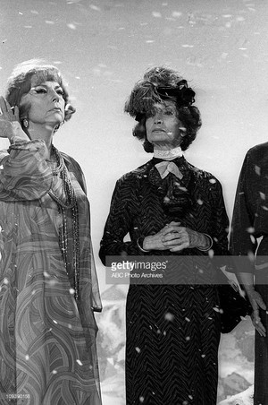 Agnes Moorehead and Estelle Winwood