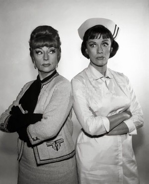 Agnes Moorehead and Eve Arden