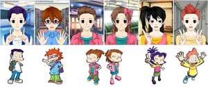 All grown up Rugrats as anime kids