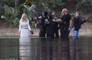 Angelina Jolie as Thena on set of The Eternals